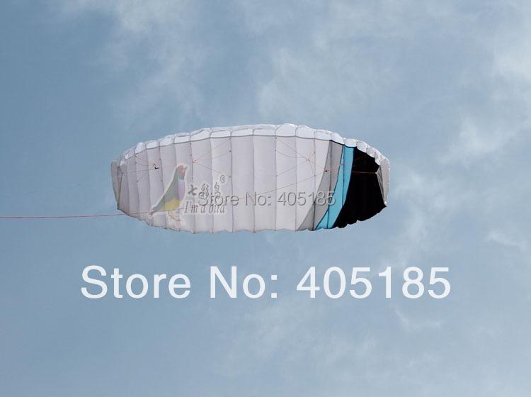 Free Shipping 4m Rainbow Dual Line Soft Stunt kite Professional 2-wire Power Kite So Beautiful Hot Sell(China (Mainland))