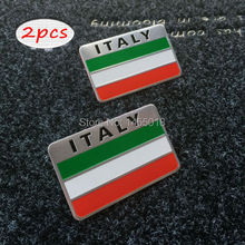 ITALY Italian Flag Label Badge Emblem Sticker Decals Stickers Cars Benz VW Fiat Maserati Lancia Car Styling Accessories - iwo jewelry life store
