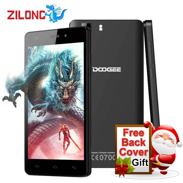 Original Doogee X5 Android 5.1 5.0 Дюймов HD 1280*720 IPS Мобильного телефон MTK6580 Quad Core 1 ГБ RAM 8 ГБ ROM 5.0MP 3 Г WCDMA смартфон