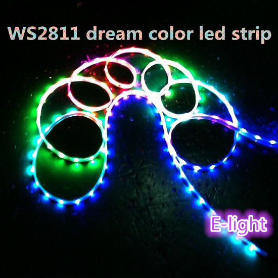 5M 150 Light Magic Dream Color WS2811 IC CHIP 5050 RGB LED full color Strip Tube Waterproof IP67 DC12V - E light store