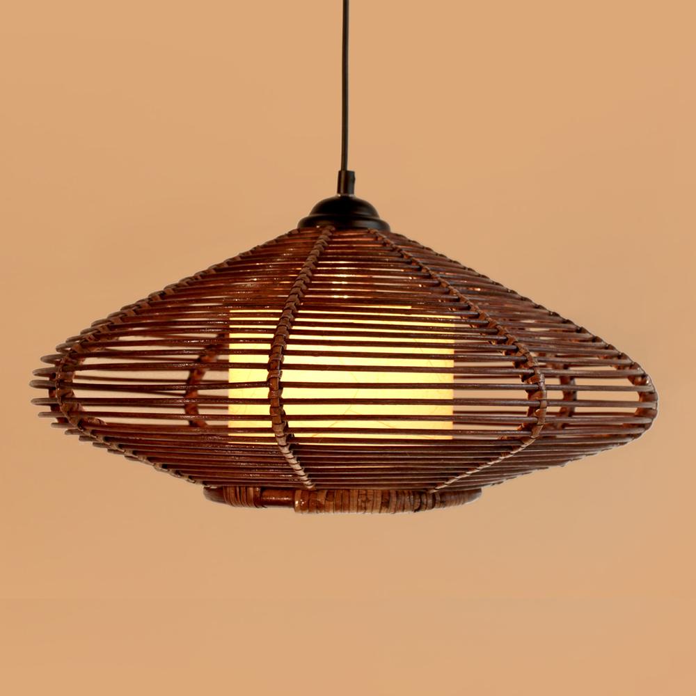 buy new brown handmade modern rattan pendant light fixture lamp study living. Black Bedroom Furniture Sets. Home Design Ideas