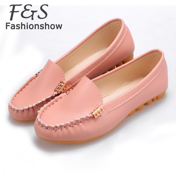 Spring Autumn Comfortable Shoes Women 2015 New Trendy Casual Flat Heel Shoes Bow Knot Round Toe Slip Candy Color Loafer Shoes 22<br><br>Aliexpress