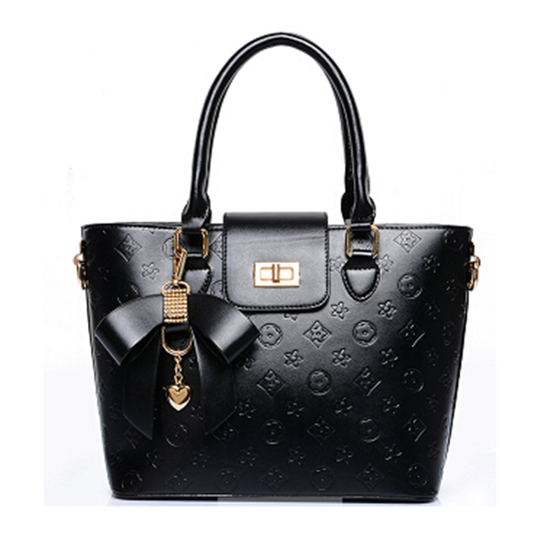 women handbag 2015 new women's fashion summer embossed Diamond butterfly Pendant patent leather shoulder bag big(China (Mainland))