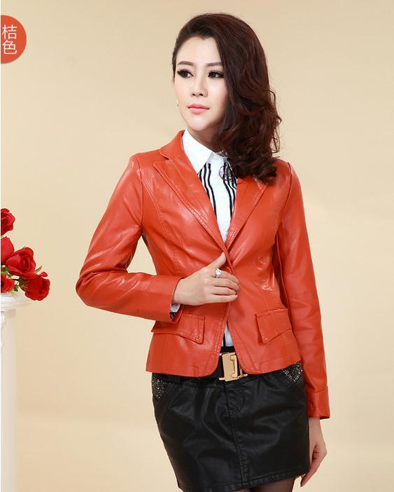 Free shipping Spring 2014 new ladies motorcycle leather , PU leather jacket ladies short paragraph small coat, large size M-3XLОдежда и ак�е��уары<br><br><br>Aliexpress