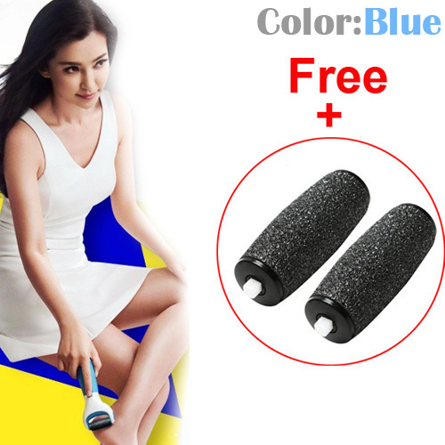 2015 Hot Sale Professional Electric Pedicure Foot File Feet Care Tool With 2 Replacement Roller Heads Free Shipping(Hong Kong)