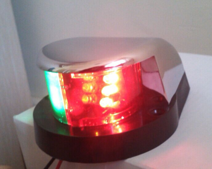 Marine boat Yacht Light12V LED Bi-Color Combination Deck Mount Bow Navigation Light(China (Mainland))