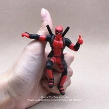 Disney Marvel X-MEN super-Homens Deadpool 2 Postura Sentada Modelo Anime Mini Decoração Boneca PVC Action Figure Coleção Brinquedos Estatueta modelo(China)