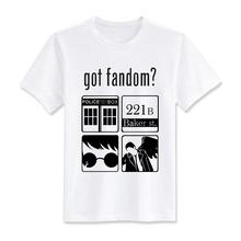 Бесплатная доставка мужчина футболки получил фэндом доктор кто шерлок гарри поттер сверхъестественное футболки размер евро свободного покроя мужчины футболки