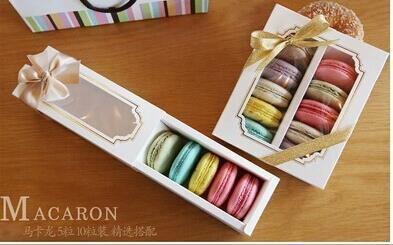 Packing 10 pcs new window Baking macarons box box West Point Specifications 15.7cm*12.8cm*5.2cm(China (Mainland))