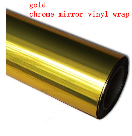 2015 new Wholesale Price High quality gold Mirror chrome Vehicle Wrap Vinyl car sticker 1.52m*50cm free shipping(China (Mainland))
