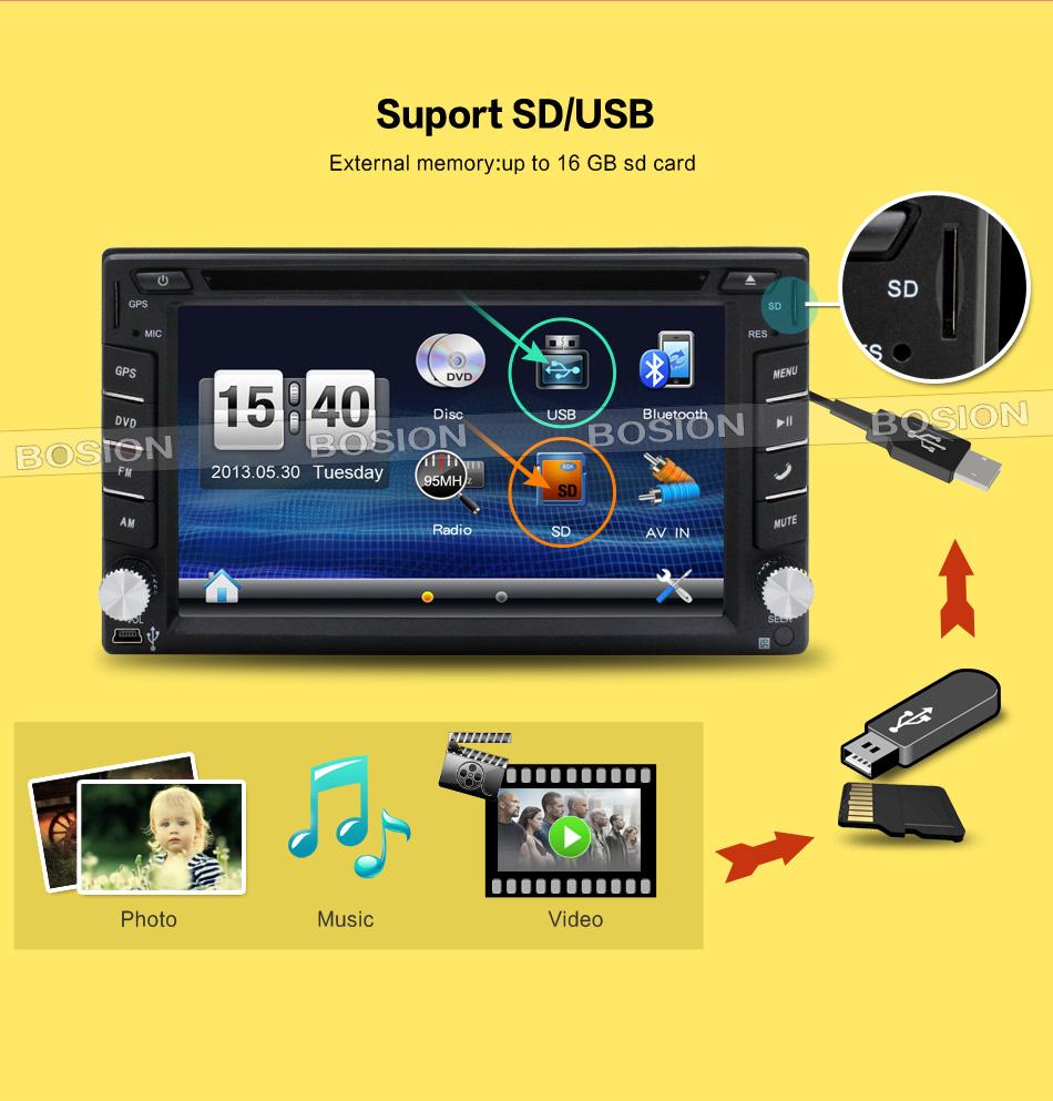 car dvd 2 din GPS Navigation 6.2inch 2din Universal Car Radio In Dash Stereo Video Free Map(China (Mainland))