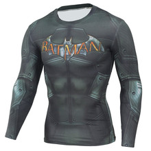 Buy Mens Compression Shirt Detective Comics Superhero Batman Superman Workout Muscle Shirts Baselayer Fitness Lifting Shirts for $13.00 in AliExpress store