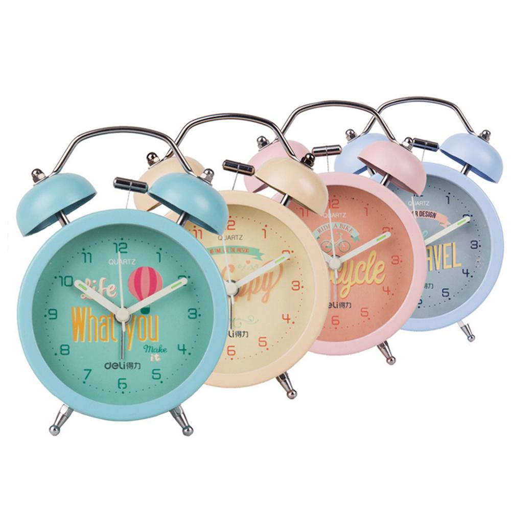 Alarm Clock Kids Modern Alarm Clock Round Double Bell Backlight Decorative Table Clocks Mechanical Classic Desk Clock(China (Mainland))
