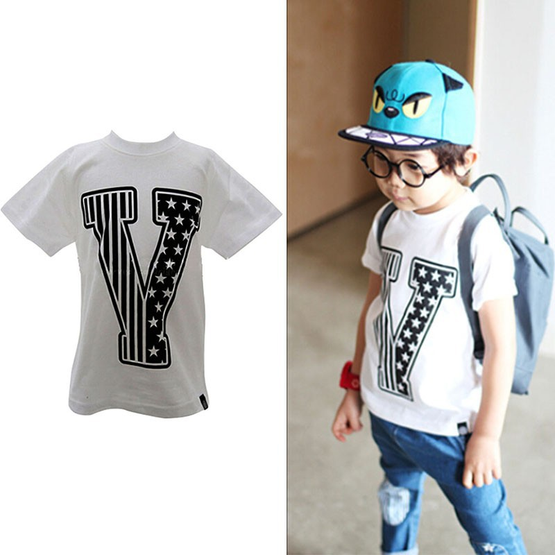 Brand New Summer Kids Tshirt Cotton Print Short Sleeves Boys Girls baby T shirts