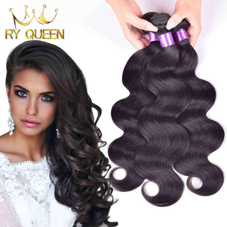 Queen weave beauty peruvian virgin hair body wave virgin peruvian hair 3 pcs lot peruvian curly hair can be dyed free shipping