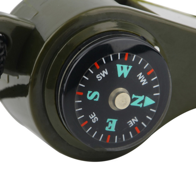 3 in1 Survival Whistle Compass Thermometer
