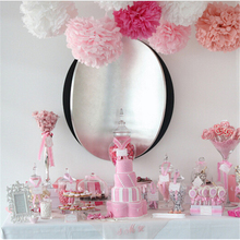 12PCS 3 Color(White Rose Pink) 15CM&30CM Chinese Tissue Paper Pompoms Wedding Decorative Party Supplies Festive Supplies(China (Mainland))