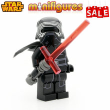 SingleSale STAR WARS Kylo Ren with Cross Lightsaber First Order Jedi The Force Awakens Minifigures Building Blocks Kids Toy Gift(China (Mainland))