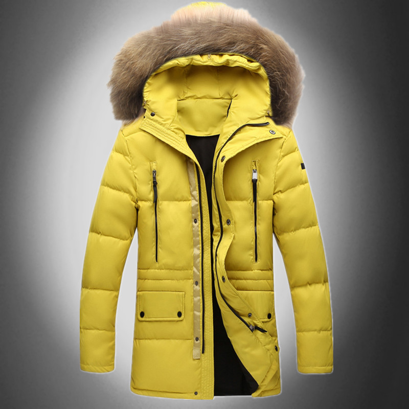 Men Hooded Down Coats White Duck Snow Warm Thick Down Parkas Brand Design Casual Slim Fit Outdoor Trench Coats D1718-NSОдежда и ак�е��уары<br><br><br>Aliexpress