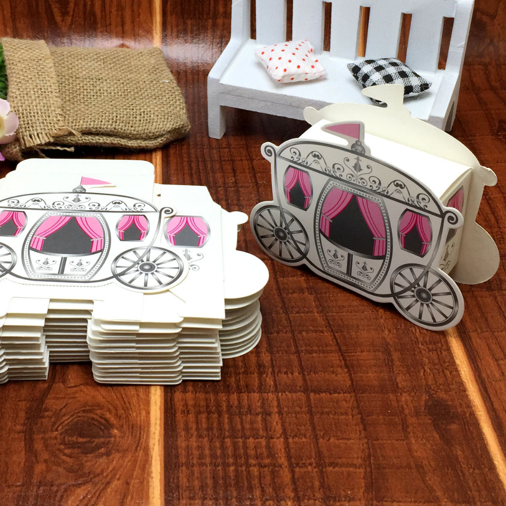 100 pçs/lote Romântico Favores Presentes Do Chuveiro de Bebê Caixa de Doces de Casamento de conto de Fadas Cinderela Carruagem de Abóbora decoração de casamento mariage(China (Mainland))