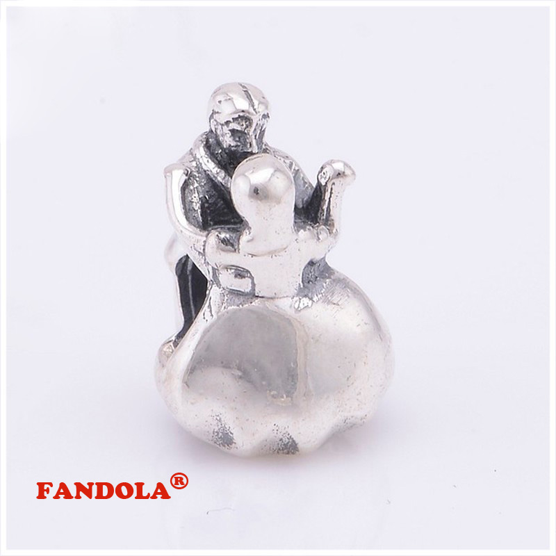 Fits Pandora Charms Bracelet 925 Sterling Silver Beads font b Chequered b font Flasgs Dangle Charm