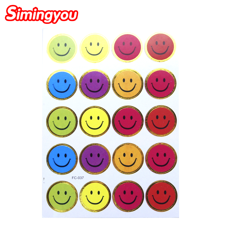 Simingyou Kids Stickers Funny Smile Faces Puffy Stickers Emoji Smily Face Autocollants Sticker 10Pcs/Pack Adesivos TZW1(China (Mainland))
