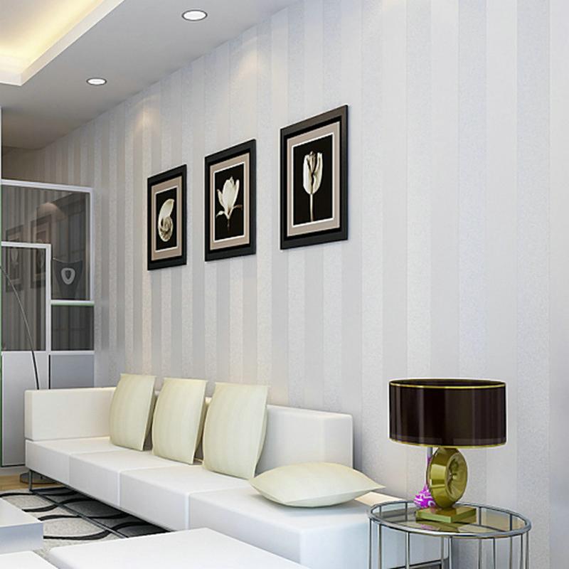 2015 fashion high quality 3d vertical stripes wallpaper - Papel para paredes decorativo ...