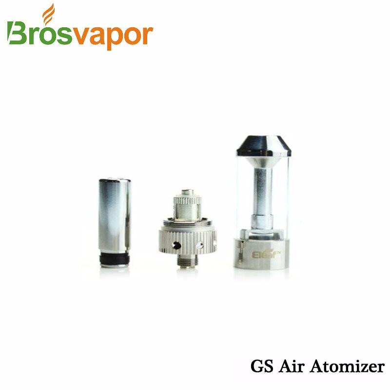 Hot Original Eleaf iStick GS air Atomizer 2.5ml capacity tank iSmoka GS air atomizer 510 thread silver E-cigarette atomizer free shipping (4)