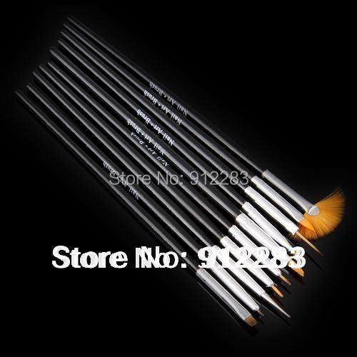 Free Shipping 50pcs 15-22cm Acrylic Design Painting Brush Pen, Fashion Nail Brush Pen(China (Mainland))