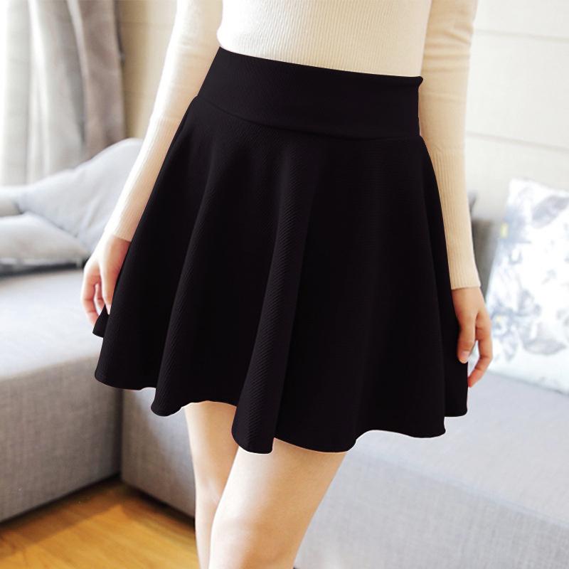 SHOWME New Sexy Women Skirt Fashion Fall Winter Skirts Plus Size XL High Waist Pleated Skirt Black Tennis Skater Skirt For Women