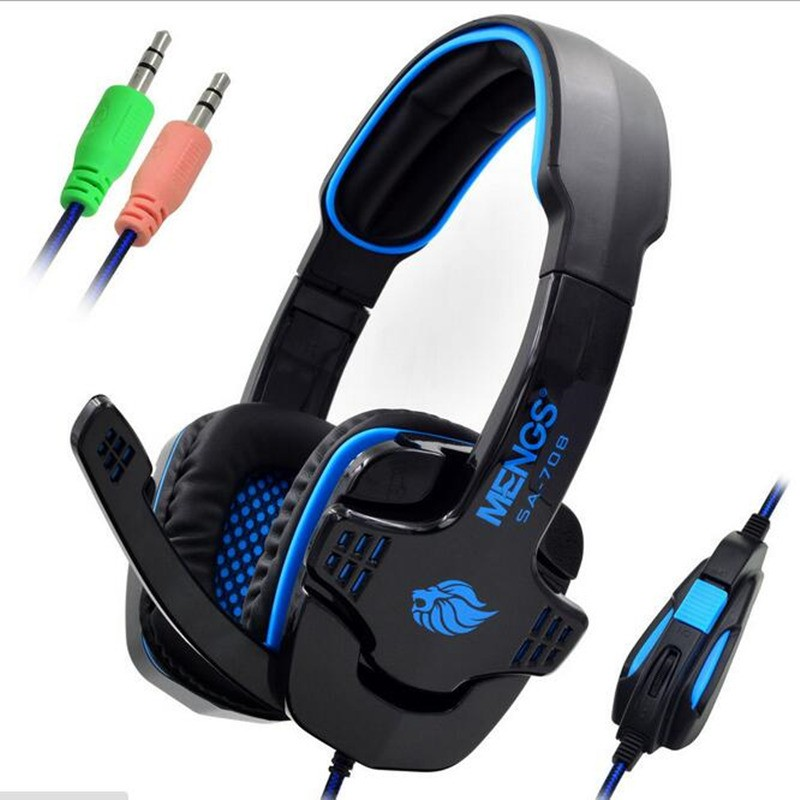 2017 Brand New Sades Game Headphones 7.1 Surround USB Gaming Headset Earphone with Microphone for PC Gamer With Microphone