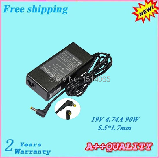 Hot sale 90W Laptop Adapter For ACER TravelMate C110 C200 C300 C310 380 2100 2200 2300 19V 4.74A 5.5*1.7mm(China (Mainland))