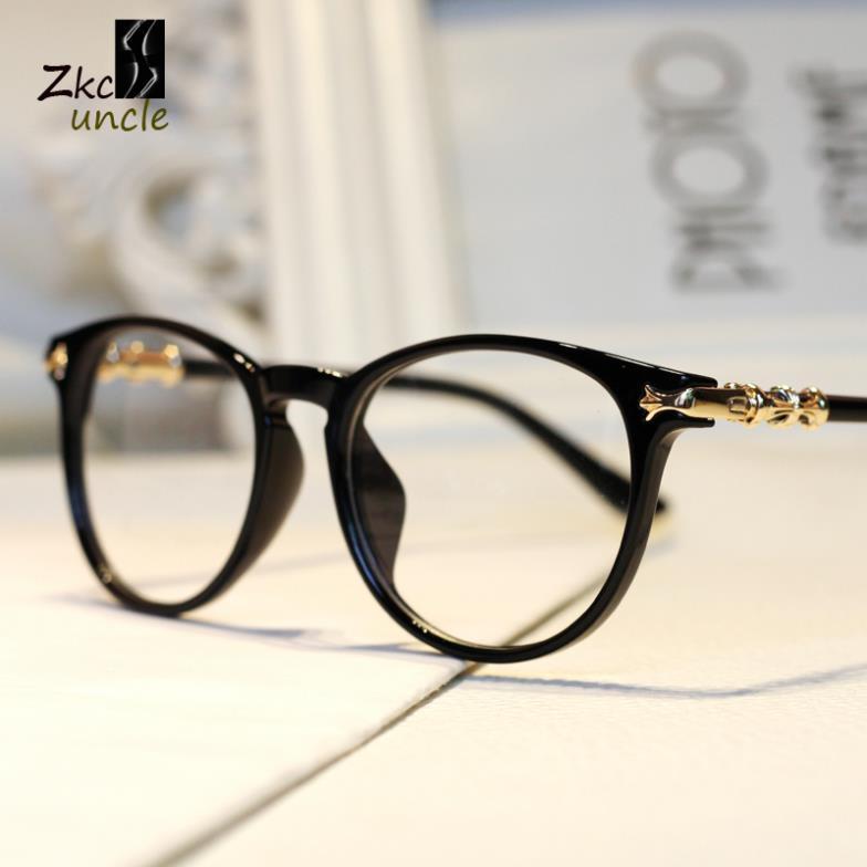 2015-brand-eyeglasses-K-heart-round-gold-metal-legs ...