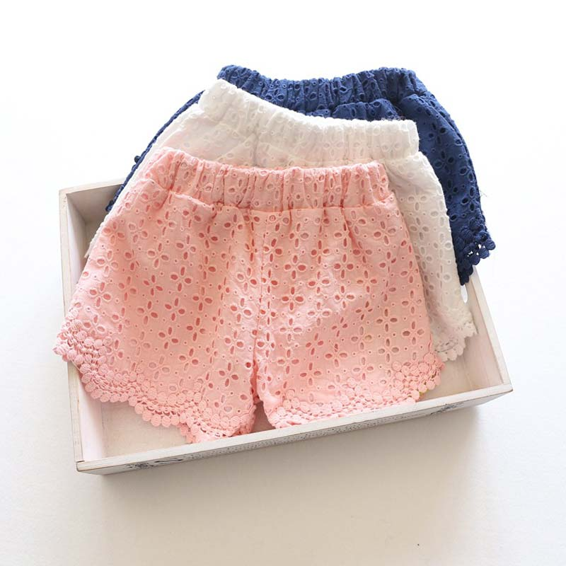 Princess Lace Baby girls shorts Summer Spring 2017 children shorts kids shorts for girls clothes toddler girl clothing
