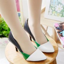 New 2014 Women's Pumps Sexy Ladies Pointed Toe Classic Party Stiletto Thin High Heels women's pumps Wedding Shoes big size 34-44(China (Mainland))