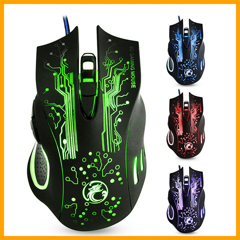 Гаджет  NEW USB Wired Gaming Mouse Mice X9 6 Buttons Professional Computer Mouse Gamer Mice Colorful NotifyLight 5000dpi Optical Mouse None Компьютер & сеть