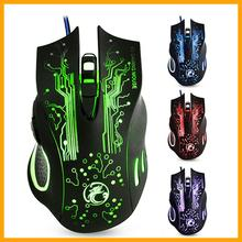 NEW USB Wired Gaming Mouse Mice X9 6 Buttons Professional Computer Mouse Gamer Mice Colorful NotifyLight 5000dpi Optical Mouse
