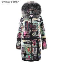 2019 зимняя куртка новая мода женский пуховик тонкий большой размер куртка с капюшоном Студенческая Женская Толстая теплая хлопковая верхня...(China)