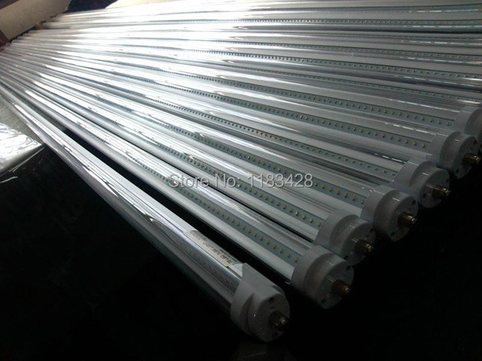 X15pcs HOT SALL 2400mm 192LED Tube light FA8 single pin T8 SMD 2835 LED fluorescent tube 8ft 4000LM Free shipping(China (Mainland))