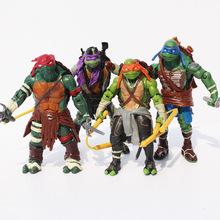 (4pcs/set) 12cm TMNT Teenage Mutant Ninja Turtles PVC Action Figure Toys Dolls Free Shipping(China (Mainland))