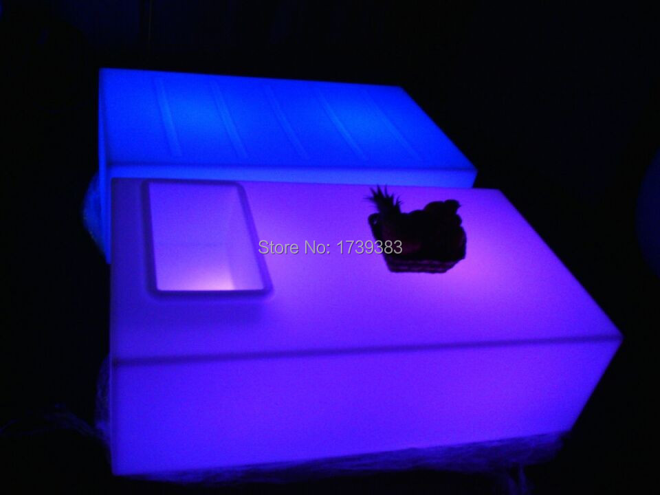 Rectangle square Opening coffee table Led light table Remote Control living room furniture luxury hotel KTV bar tables<br><br>Aliexpress