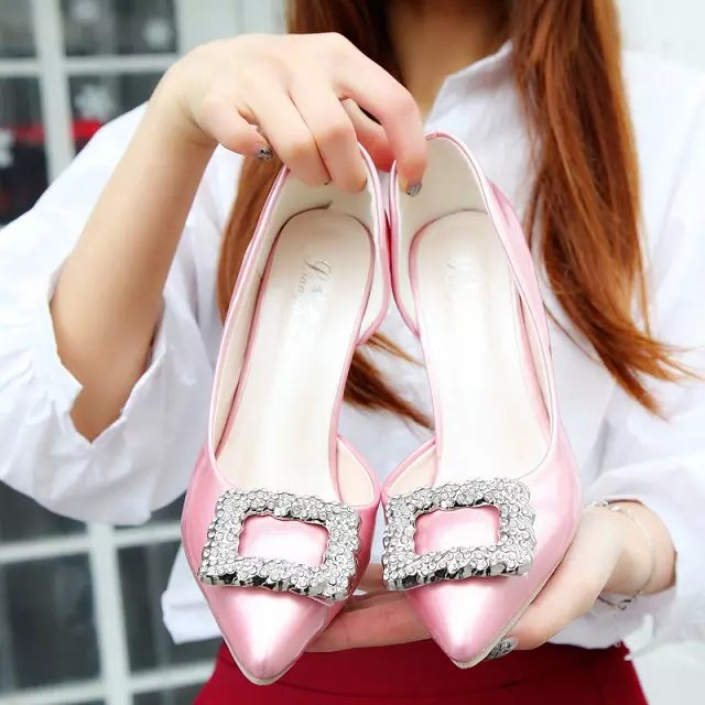 Elegant Design 2015 Bridal Evening Party Thin High Heels Women Shoes Sexy Woman Fashion Pointed Toe Bridal Shoes LD er-802(China (Mainland))
