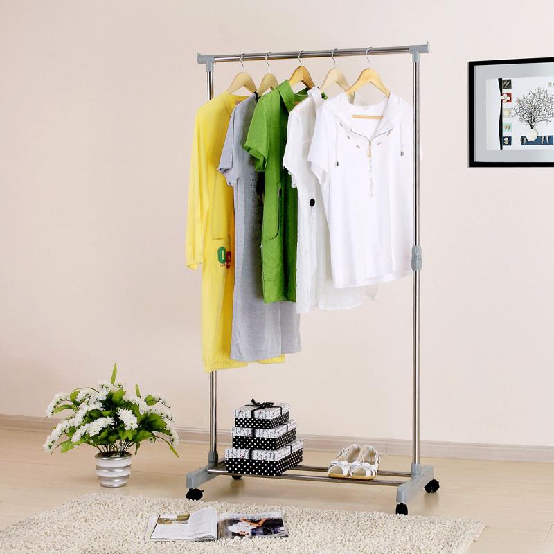 Hanger floor fashion hangers indoor coatless lift furniture clothes rack(China (Mainland))