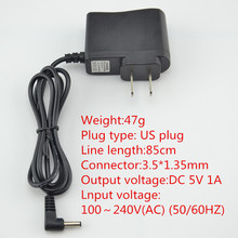 Hot PVC High quality switching power supply adapter AC 100v-240v DC 5V 1A-3.5x1.35mm EU universal plug adaptor-DC-US-5V1A(China (Mainland))