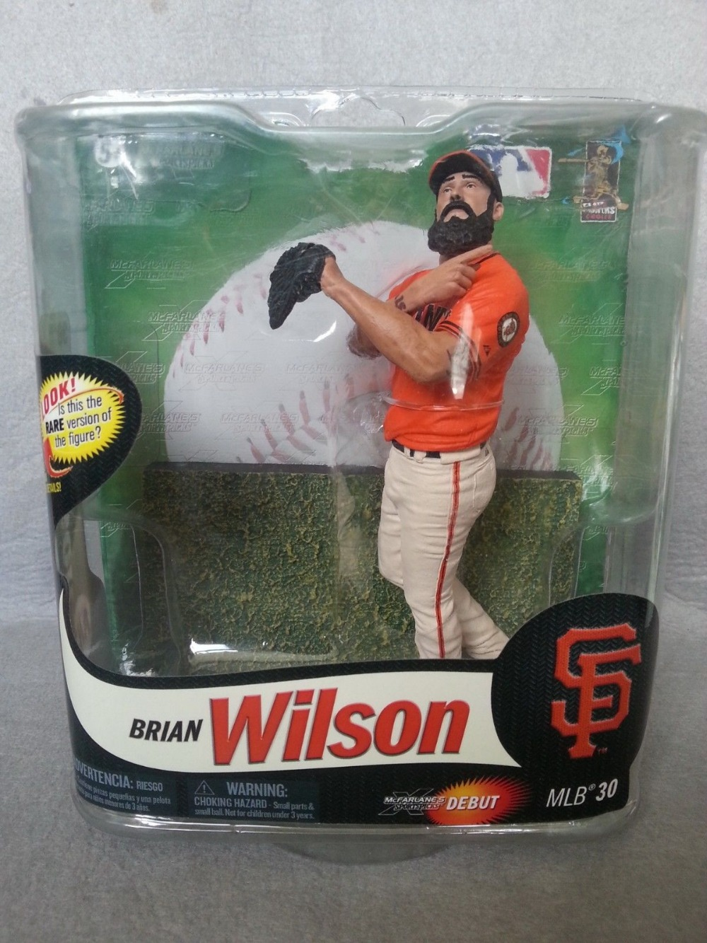 LIMITED BLANK OF 415 Prototype McFarlane MLB Series 30 Brian Wilson Collector Level Gold Figure(China (Mainland))