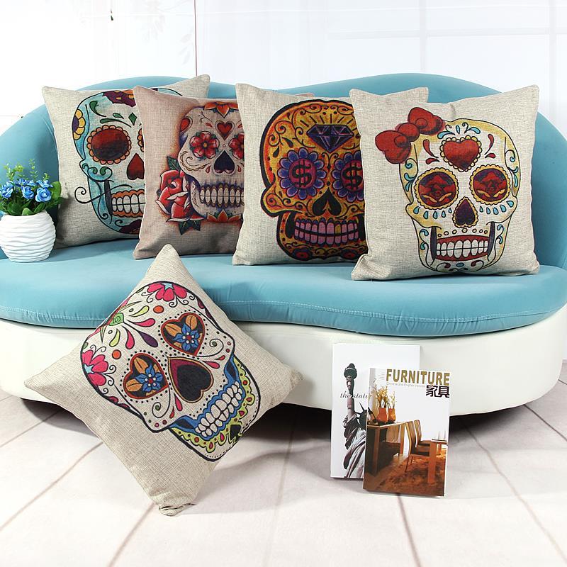 skull cushions home decor sofa throw pillows decorate