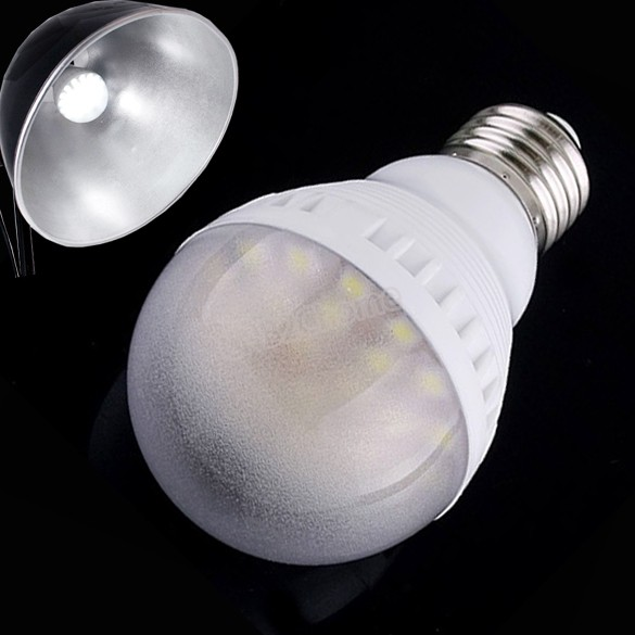 Hot Sale E27 3.5W 400LM 25 LED SMD 5050 Ultra Light Lamp Screw Bulb Energy Bright 3064(China (Mainland))