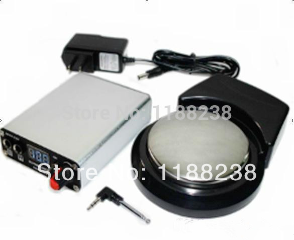 Rechargeable Tattoo Power Supply Digital Display with Wireless foot pedal gun needles Silver free shipping<br><br>Aliexpress