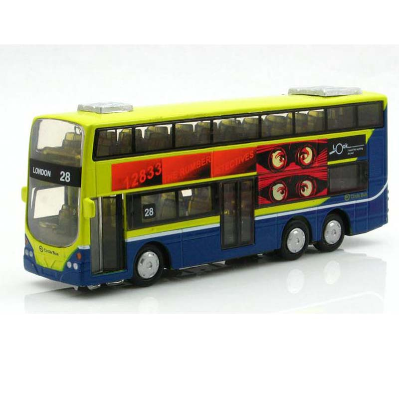 In Stock Lowest Price Sale 1:50 Mini Metal Car Model Toys Car London Bus Toys For Children Sound With Flashing Can Open Door(China (Mainland))