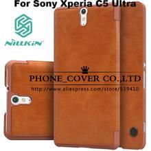 Чехол книжка Nillkin для Sony Xperia C5 Ultra E5506 E5563 E5533 E5553 + защитная плёнка